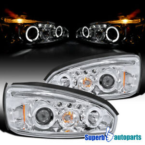 For 2004 2007 Chevy Malibu Led Halo Projector Headlights Head Lamps Replacement