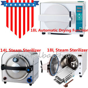 14l 18l Dental Autoclave Steam Sterilizer Device automatic Drying Function Type