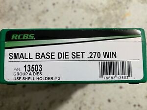 RCBS .270 WIN DIE SET #13503 2 DIE RELOADING DIE SET BRAND NEW SEALED NIB $60.00