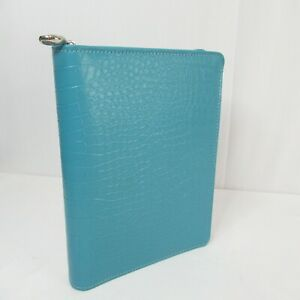 Franklin Covey Day 1 One Classic Size Zip Around Planner Inserts Teal Blue Green
