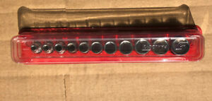 Great Shape Snap on 3 8 11pc Sae Shallow Socket Set Magnetic Tray Dust Cover