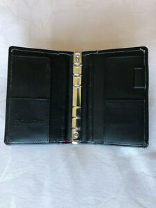 Franklin Covey Pocket Size Binder Cover In Black Sim Leather