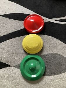 Vintage Ford Hubcaps Center Caps Hung To Replic A Traffic Light For Kids Room