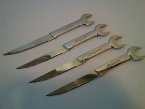 Set 4 Snap On Tools Open End Box Wrench Steak Knives Cutlery Hardware Flatware