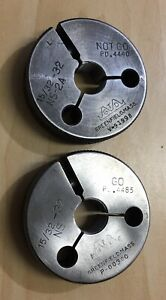 15 32 32 Ns 2a Go No Go Thread Ring Gages Greenfield Tool Die