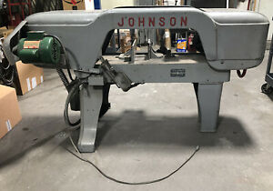 Johnson Model J Horizontal Band Saw 16 Wheels Will Ship Please Ask For Rates