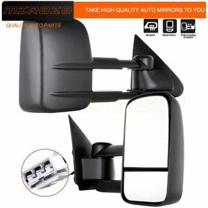 Mirozo For 97 03 F150 1997 98 F 250 Telescop Trailer Power Side Tow Mirrors
