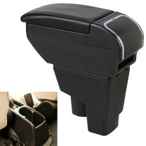 Us Armrest Box For Honda Fit Jazz 2002 2008 Consoles Storage Leather Compartment