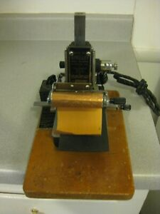 Kingsley Gold Stamping Machine heats Up not Fully Tested as Is For Parts