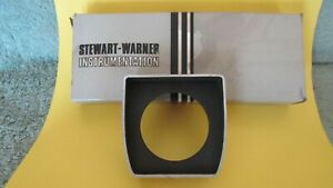 Nos Vintage Stewart Warner Aluminum 1 Hole Under Dash Gauge Panel In Box New