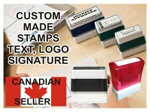 Custom personalized Self Inking Pre inked Rubber Stamp Text Logo Signature