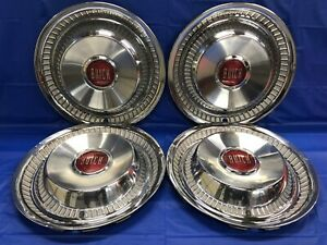 Vintage Set Of 4 1956 Buick 15 Hubcaps Century Road Master Good Condition