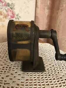 Vintage 1920s Chicago Automatic Pencil Sharpener Pencil Sharpener Co Desk Wall