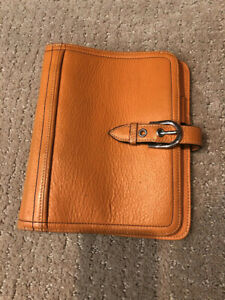 Franklin Covey Unstructured Compact Binder In Full grain Leather