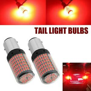 2 Red 1157 Bay15d Led Canbus 144 Smd 20w Car Brake Reverse Lamp Tail Light Bulbs