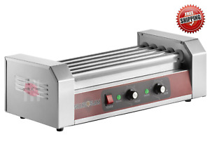 Compact Commercial Hdrg12 12 Hot Dog Roller Grill With 5 Rollers 110v 750w