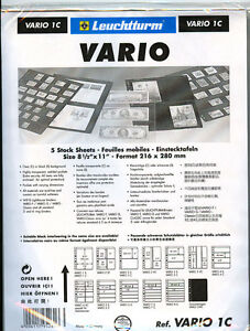 25 New Lighthouse Vario 1c Stock Pages clear Sheets free Expedited Shipping