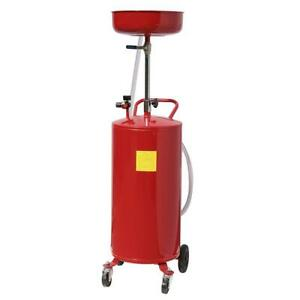 Hot 20 Gal Portable Auto Waste Oil Drain Air Operated Drainer Drainage Lift Tool