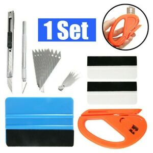 8pcs Car Window Film Tint Tool Squeegee Scraper Install Kit Wrapping Application