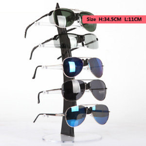 5layer New Acrylic Clear Eyeglasses Glasses Display Stand Rack Sunglasses Holder