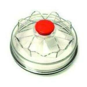 Fortpro Threaded Clear Poly Carbonate Trailer Axle Hub Cap With Gasket Replacement