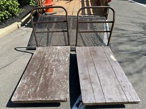 Vintage Industrial Factory Freight Push Carts