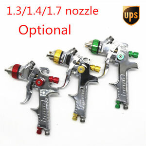 1pc 1 4mm Nozzle Szie Red For Pps Tank Hvlp Auto Feed Paint Spray Gun W Adapter
