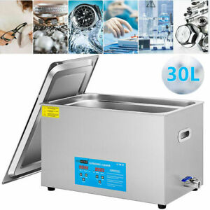 30l Ultrasonic Cleaner Stainless Steel Industry Heated Heater W timer