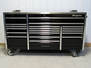 Snap On Black 84 All Drawer Epiq Tool Box Toolbox Stainless Steel Power Top