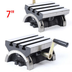 7 x5 Tilting Work Table Adjustable Swivel Angle Plate For Cnc Milling Machine