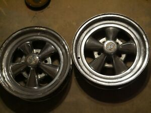 Vintage Cragar S s 5 Spoke 15 X4 Mag Wheels Front Runners Gasser Chevy 4 75