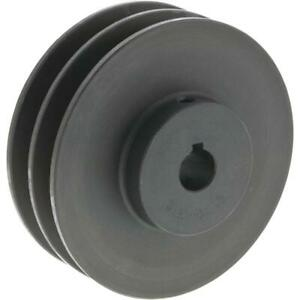 Grizzly G6269 Double V groove Pulley 4 Pitch Dia 5 8 Bore