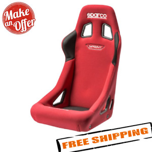 Sparco 008235rs Sprint Series Racing Seat Red Fabric