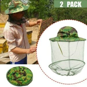 2pcs Beekeeping Hat Mosquito Bee Net Veil Face Head Protector Cap Protection Usa