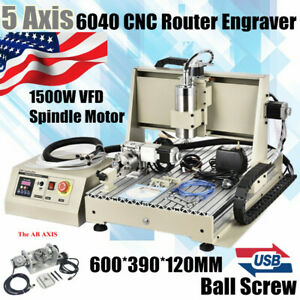 Usb 5 Axis Cnc 6040 Router Engraver Metal Drill Milling Machine 1 5kw 3d Cutter