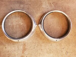 1953 Chevy Belair Sports Coupe Convertible Head Light Trim Rings
