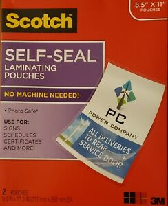 2 Scotch 3m Self Laminating Document Protector Sheets pouch 8 1 2 X 11