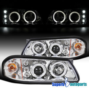 For 2000 2005 Chevy Impala Led Halo Projector Headlights Lamps Replacement