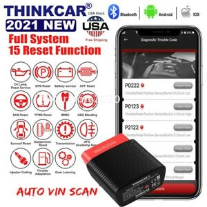 Thinkdriver Car Obd2 Scanner Bluetooth Full System Abs Sas Auto Diagnostic Reset