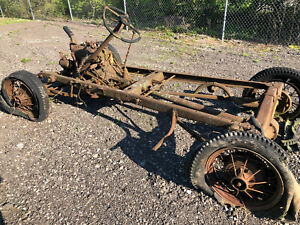 1930 31 Model A Ford Rolling Chassis W Engine Trans Axles Matching Numbers