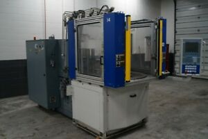 Battenfeld 110 Ton Vertical Injection Molding Machine Ba 1100 315h r W Rotary