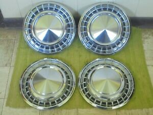 1958 Plymouth Hub Caps 14 Set Of 4 Mopar Wheel Covers 58 Christine Hubcaps