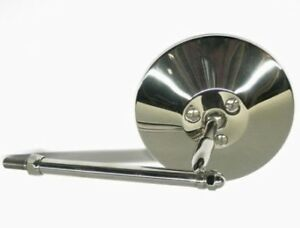 Ford Model A Roadster Phaeton Outside Post Rear View Mirror Stainless 1928 29