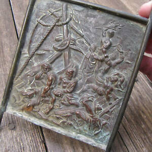 Antique French Brass G Ricault Wall Plaque The Raft Of The Medusa By Dessales