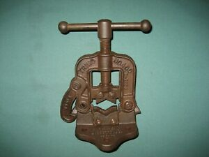Vintage Trimo No 40 Pipe Vise Bench Clamp Trimont Mfg Co Boston Ma
