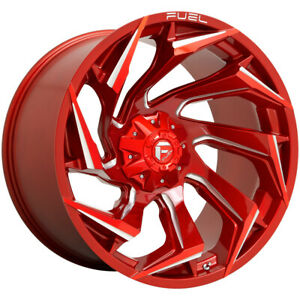 4 fuel D754 Reaction 20x9 6x135 6x5 5 1mm Red milled Wheels Rims 20 Inch