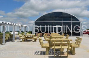 Durospan Steel 40x44x16 Metal Building Clear Span Kits Open Ends Factory Direct