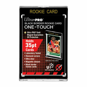Ultra Pro Black Border Rookie One Touch Magnetic Trading Card Holder 35pt Size