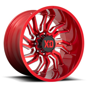 20 Red Wheels Rims Xd Series Xd858 Lifted Jeep Wrangler Jk 20x10 Set Of 5 New