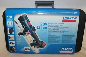 Lincoln 1888 Powerluber 20v Lithium Ion 2 Speed Cordless Grease Gun New